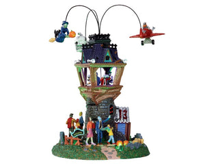 Lemax 34607 Spooky Town Airshow, Set of 2, Sights and Sound piece- Gift Spice