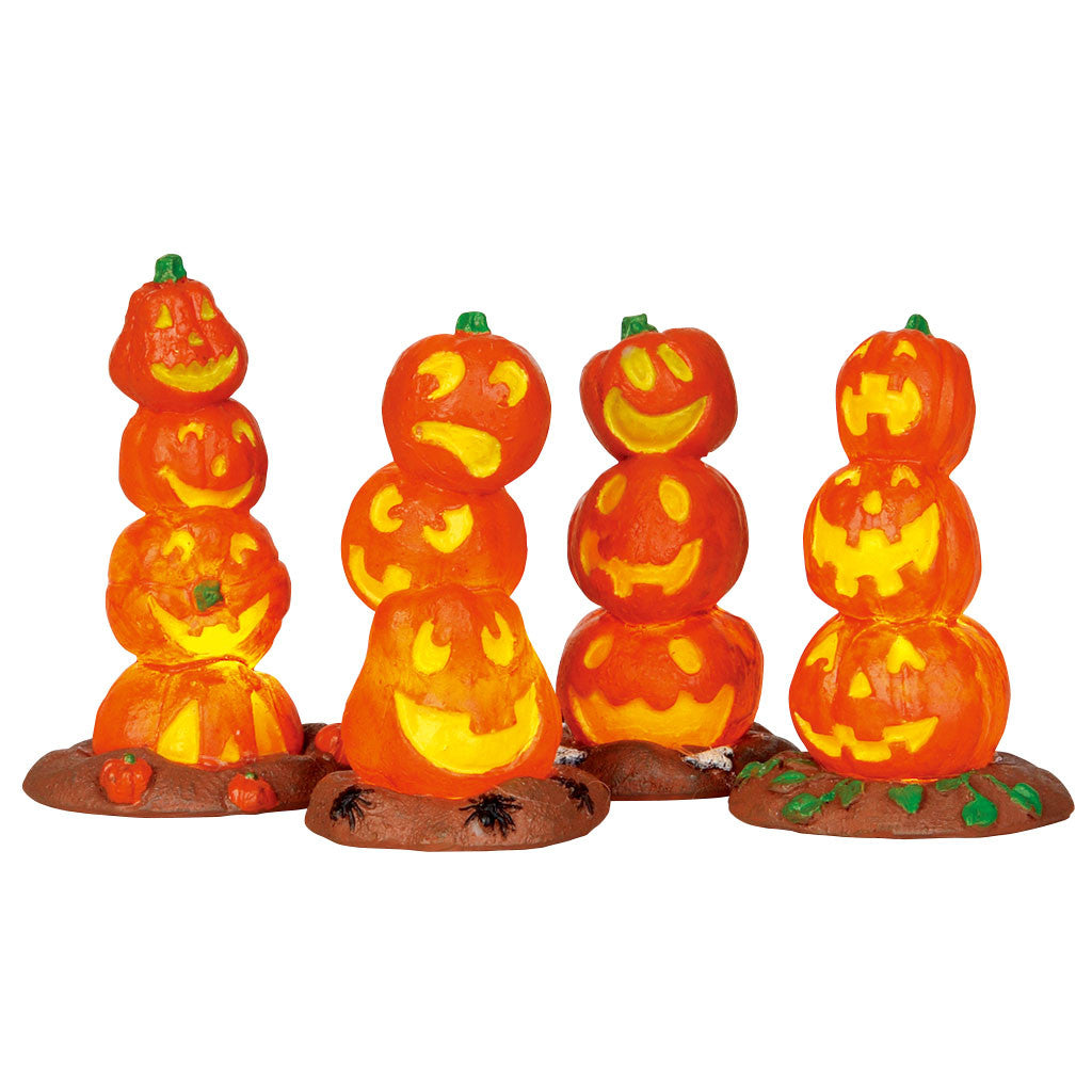 Lemax 34623 Light Up Pumpkin Stack, Accessory- Gift Spice