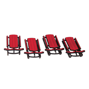 Lemax 34948 Sled, set of 4, Accessory- Gift Spice