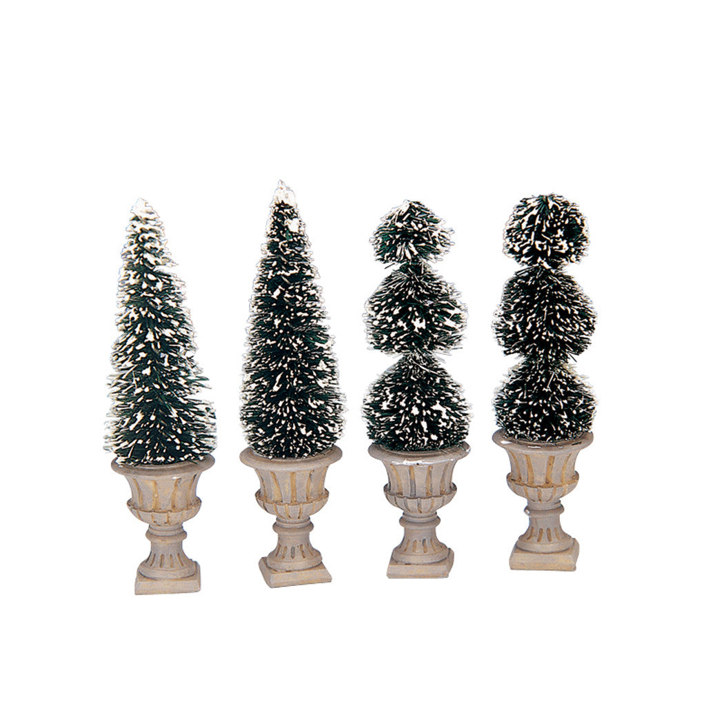 34965 Cone-Shaped & Sculpted Topiaries, set of 4, Lemax Collectibles- Gift Spice
