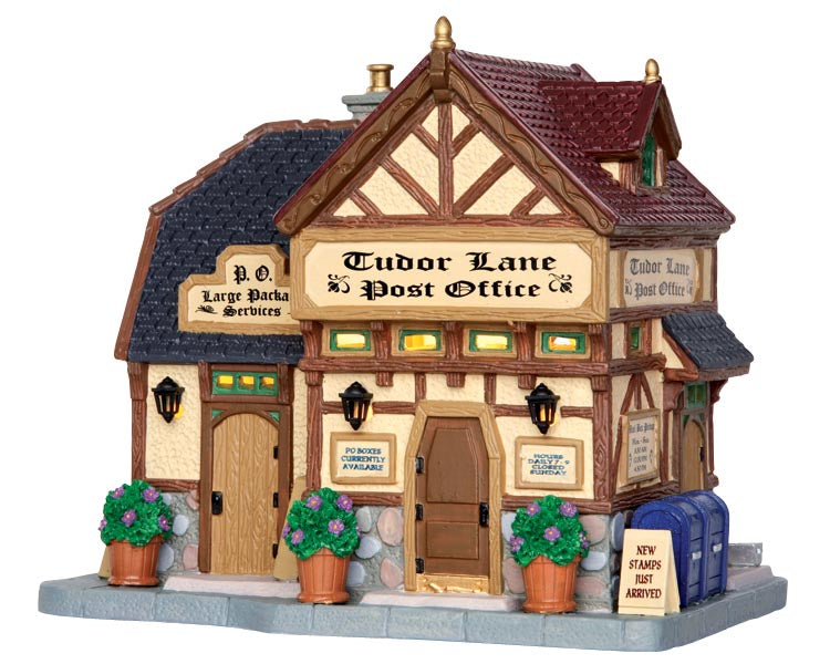 Lemax 35519 Tudor Lane Post Office, Standard Lighted Building- Gift Spice