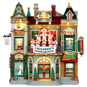 Lemax 35560 Market Square Christmas Celebration, Facade- Gift Spice
