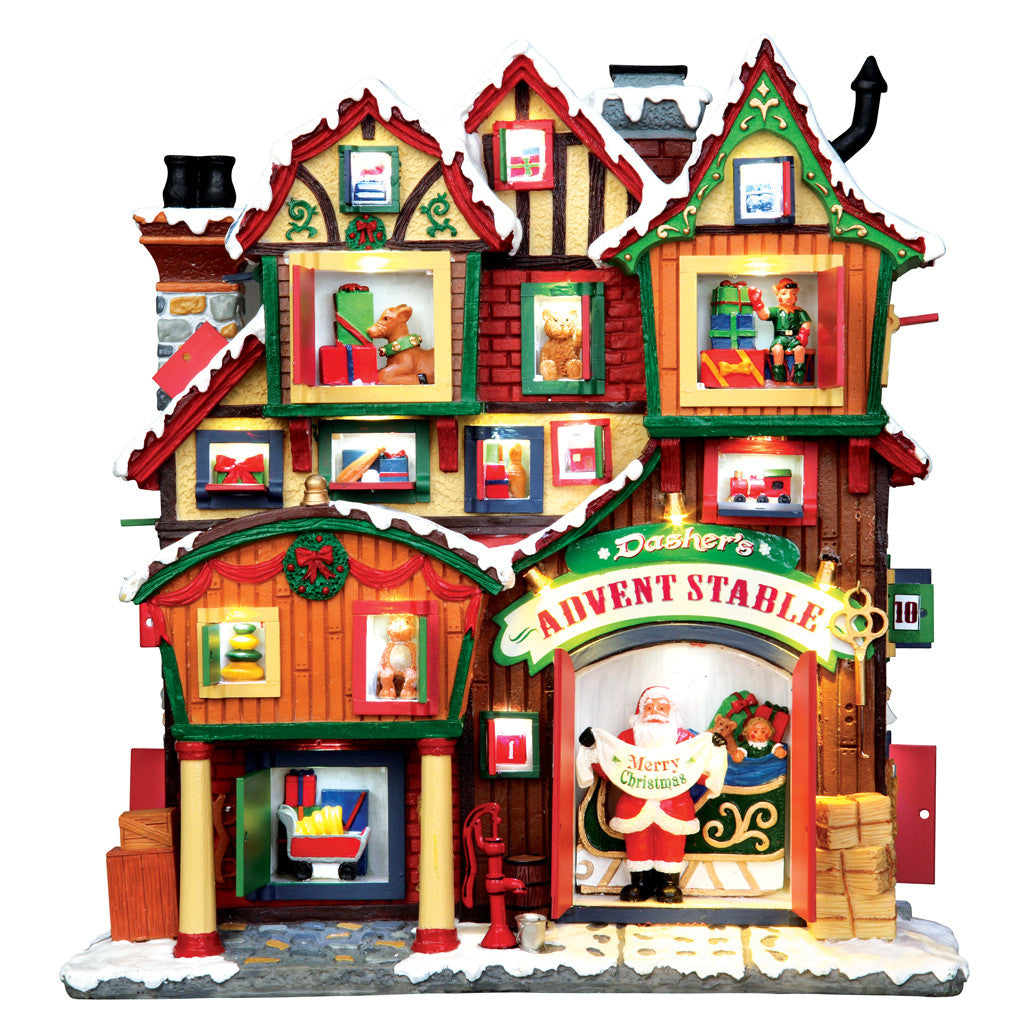 Lemax 35561 Dashers Advent Stable, Facade- Gift Spice