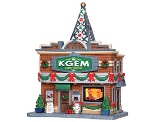 Lemax 35587 KGEM Radio Station, Standard Lighted Building- Gift Spice