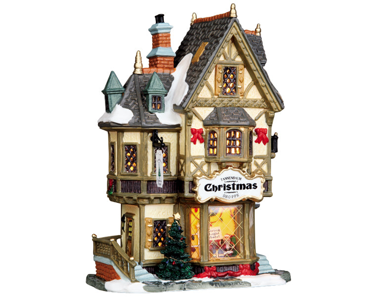 Lemax 35845 Tannenbaum Christmas Shoppe, Standard Lighted Building- Gift Spice