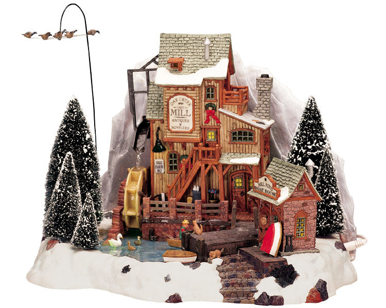 Lemax 36321 Oak Creek Grist Mill, Sights and Sound piece- Gift Spice