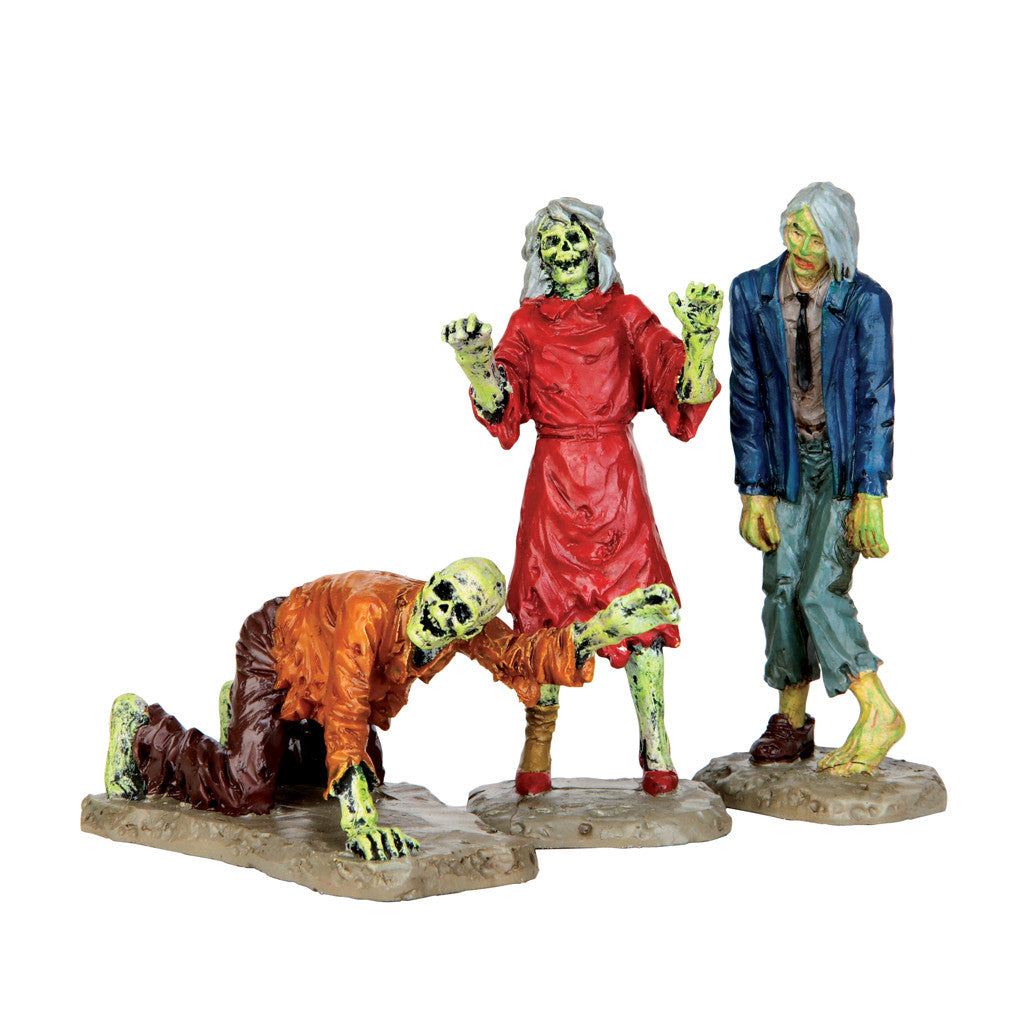 Lemax 42219 Walking Zombies, Figurine- Gift Spice