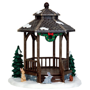Lemax 43084 Winter Gazebo, Table Piece- Gift Spice