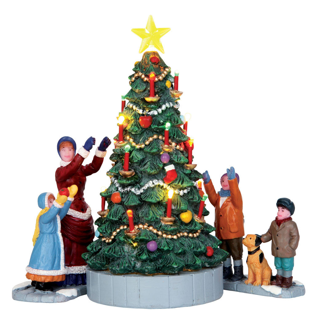 44754 The Village Tree, set of 3, Lemax Collectibles- Gift Spice