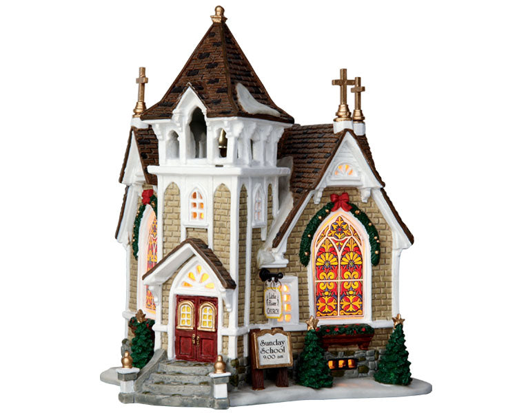 Lemax 45069 Little River Church, Standard Lighted Building- Gift Spice
