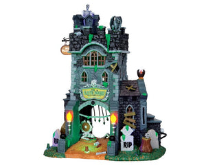 Lemax 45663 The Gate House At Haunted Meadows, Standard Lighted Building- Gift Spice