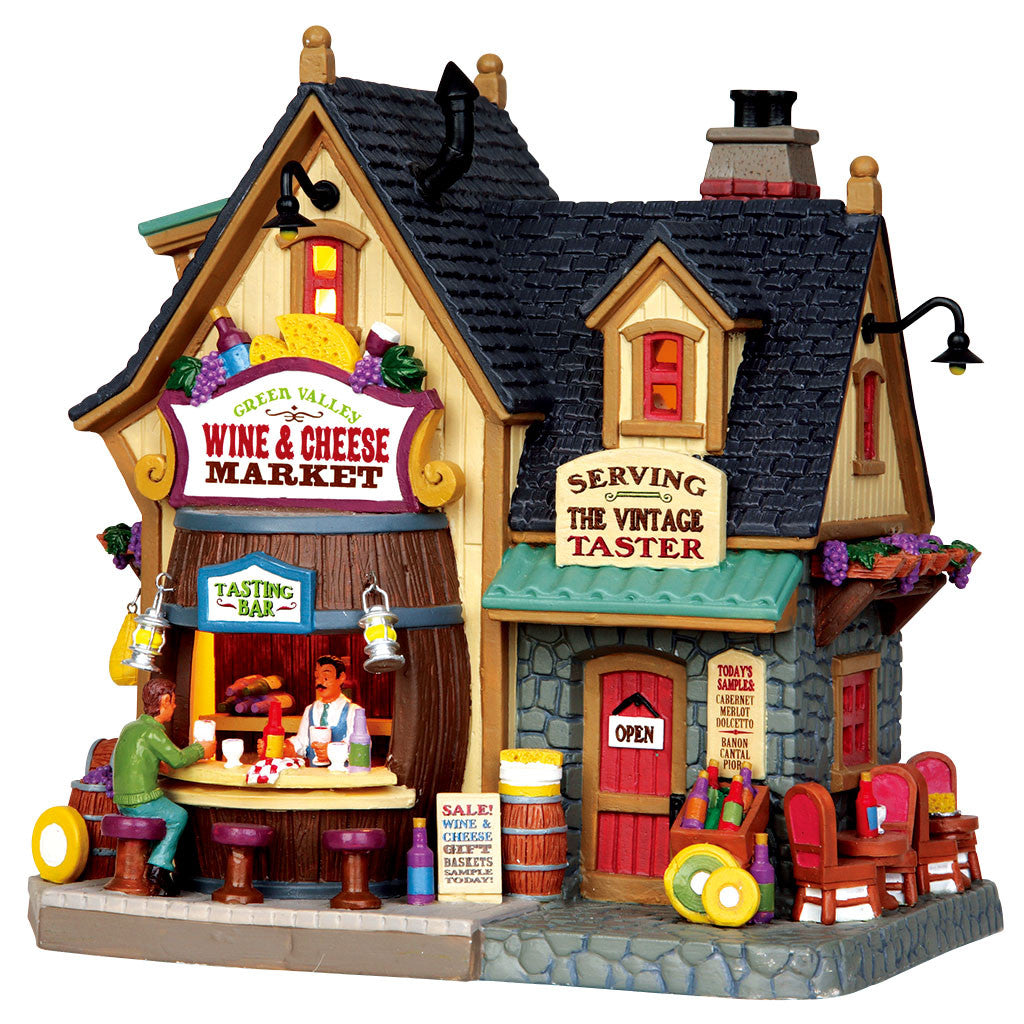 Lemax 45679 Green Valley Wine & Cheese Market, Standard Lighted Building- Gift Spice