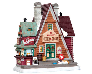 Lemax 45717 Mt. Woodland's Cider & Cocoa, Standard Lighted Building- Gift Spice