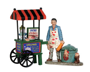 Lemax 52311 Zombie Brains Foodcart, Set of 2, Figurine- Gift Spice