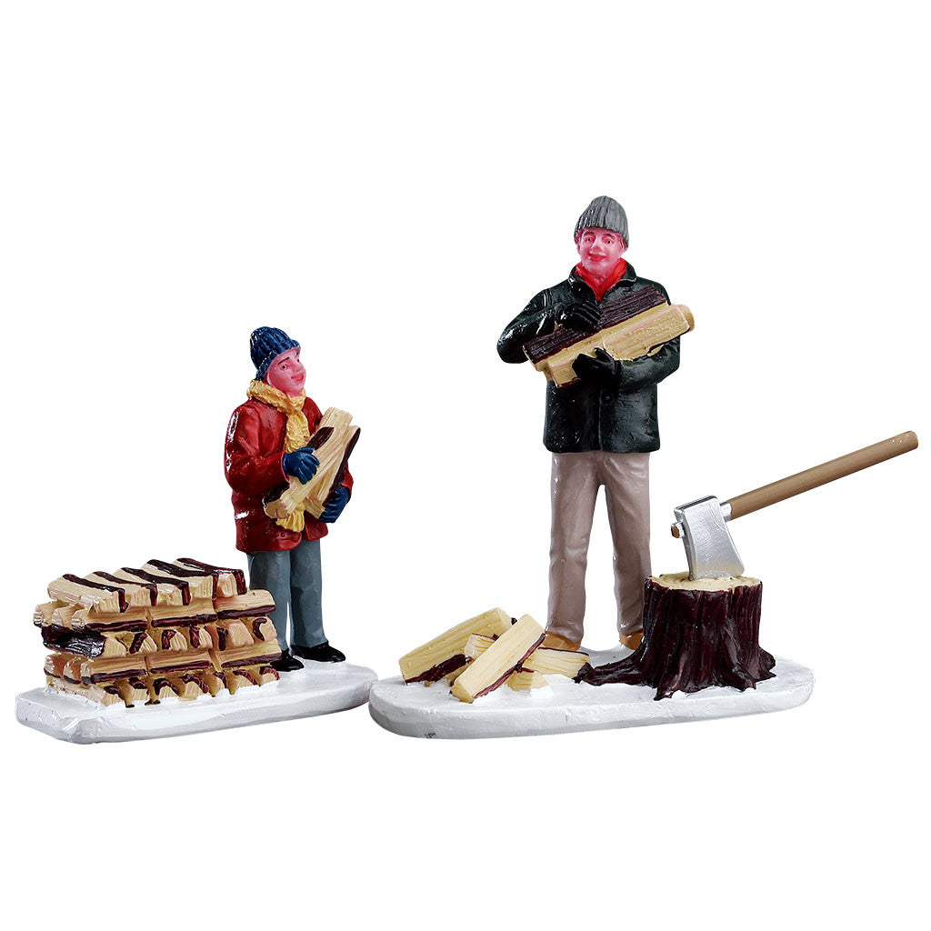 Lemax 52323 Stacking Firewood, Figurine- Gift Spice