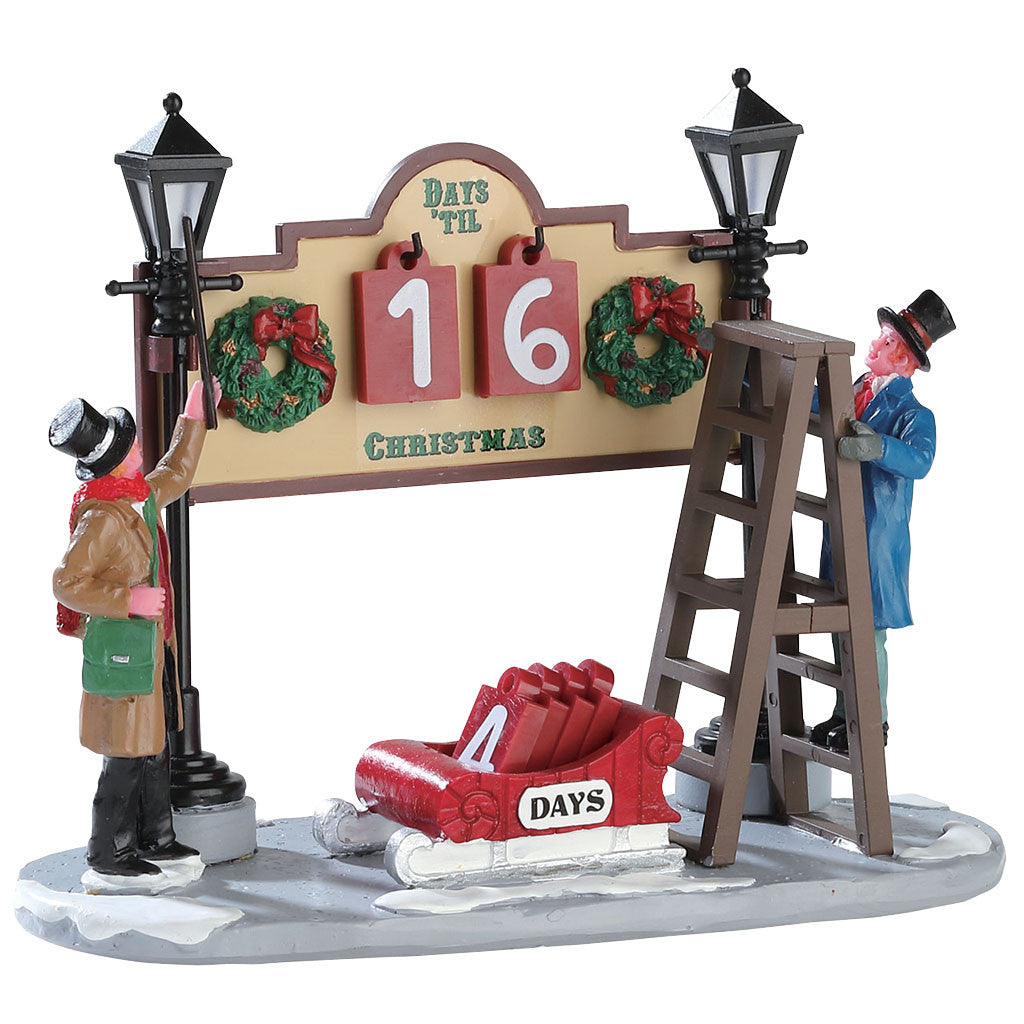 Lemax 53213 Lamplighter Countdown, Table Piece- Gift Spice