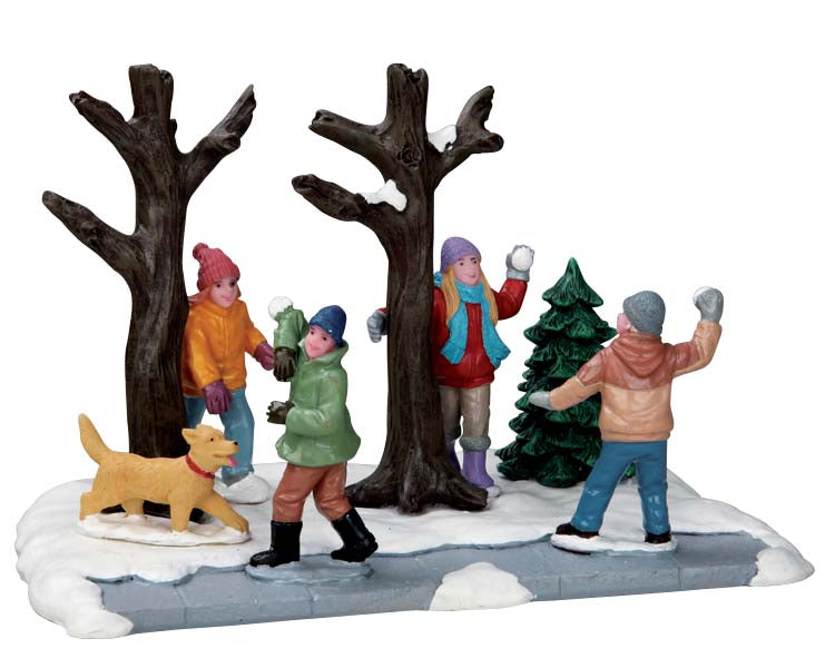 Lemax 53216 Snowball Ambush, Table Piece- Gift Spice