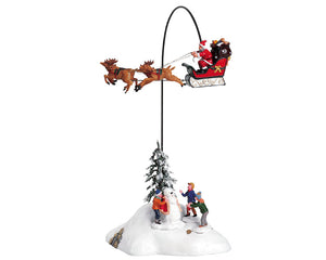 Lemax 54353 Santa Claus is Coming to Town, Set of 4, Animated Table Piece- Gift Spice
