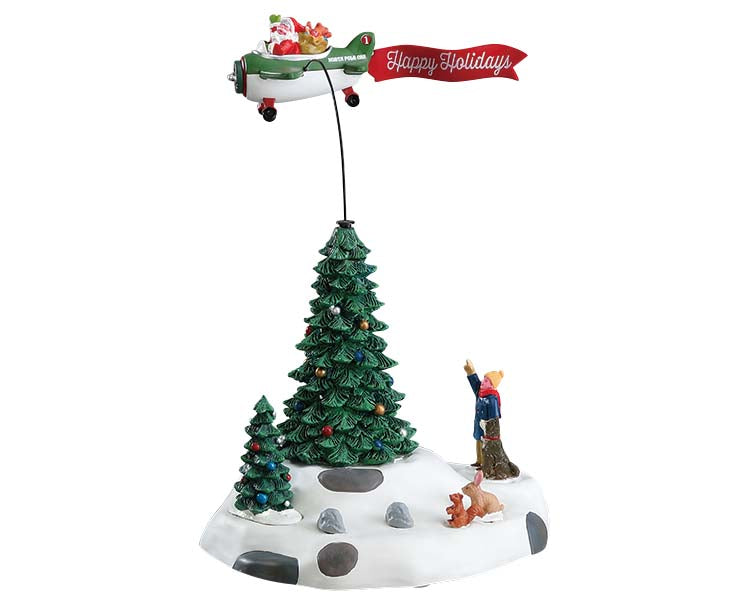 Lemax 54925 Modern Santa, Animated Table Piece- Gift Spice