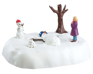 Lemax 54927 Snowman Angel, Table Piece- Gift Spice
