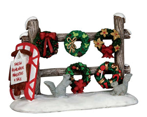 Lemax 54942 Christmas Wreaths 4 Sale, Accessory- Gift Spice