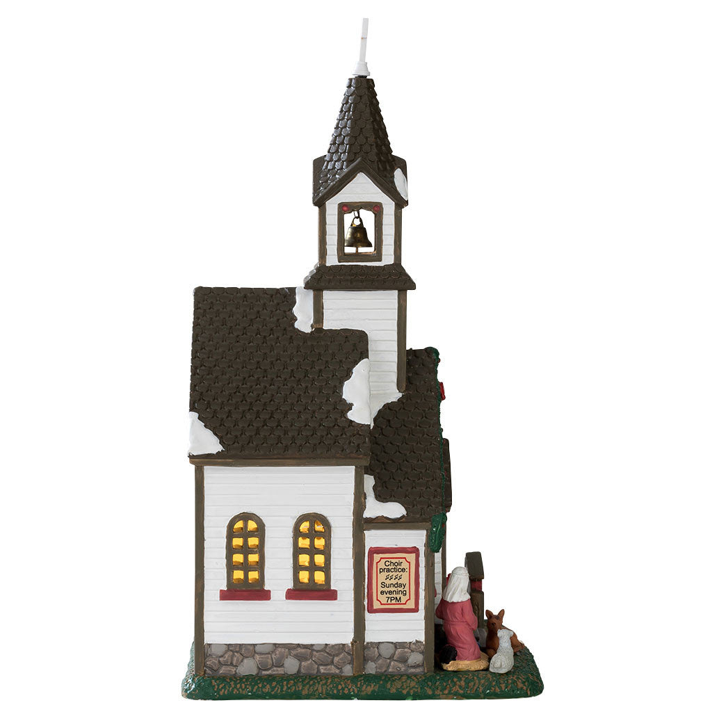 Lemax 55003 Buckleberry Church, Standard Lighted Building- Gift Spice