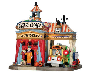 Lemax 55905 Creepy Clown Academy, Exterior Lighted House- Gift Spice