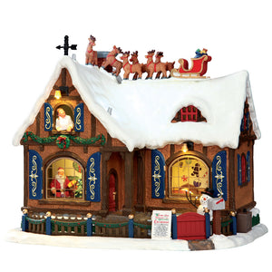 Lemax 55922 Twas the Night, Exterior Lighted House- Gift Spice
