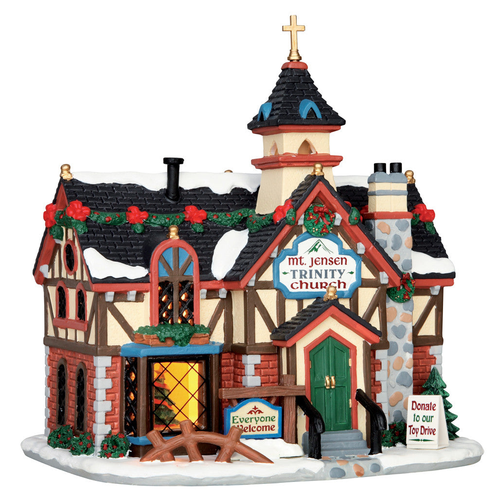 Lemax 55942 Rustic Church, Standard Lighted Building- Gift Spice