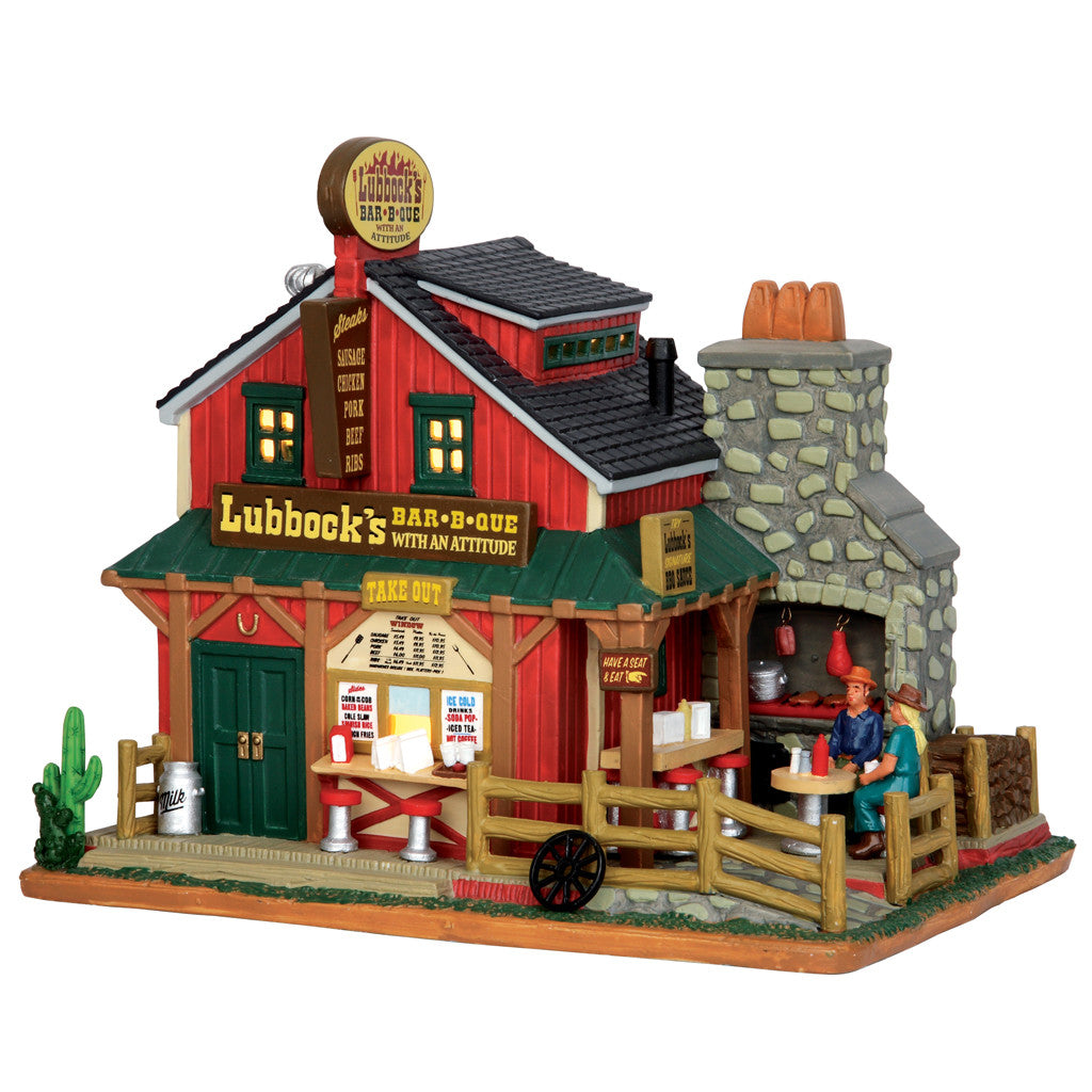 Lemax 55950 Lubbock's BBQ, Standard Lighted Building- Gift Spice