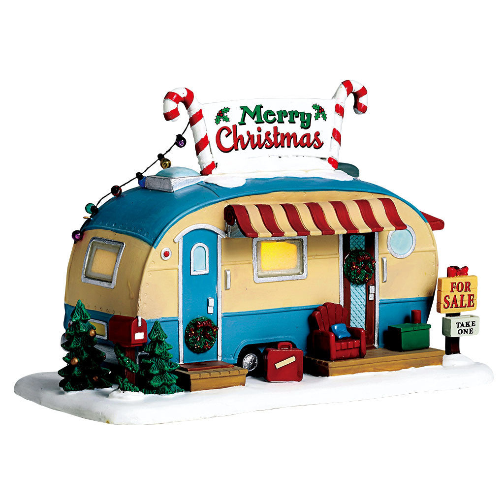 Lemax 55997 For Sale Trailer, Standard Lighted Building- Gift Spice