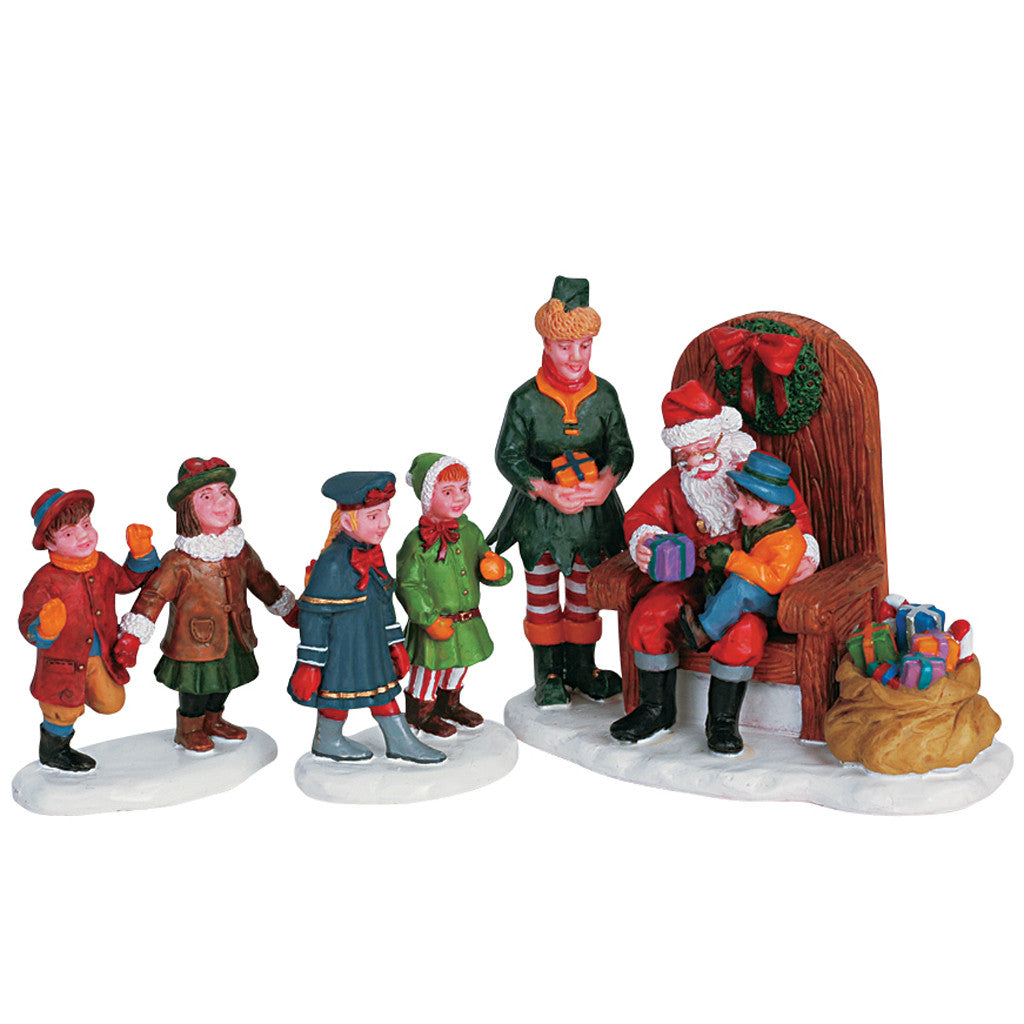 Lemax 62276 Visiting Santa, set of 3, Figurine- Gift Spice