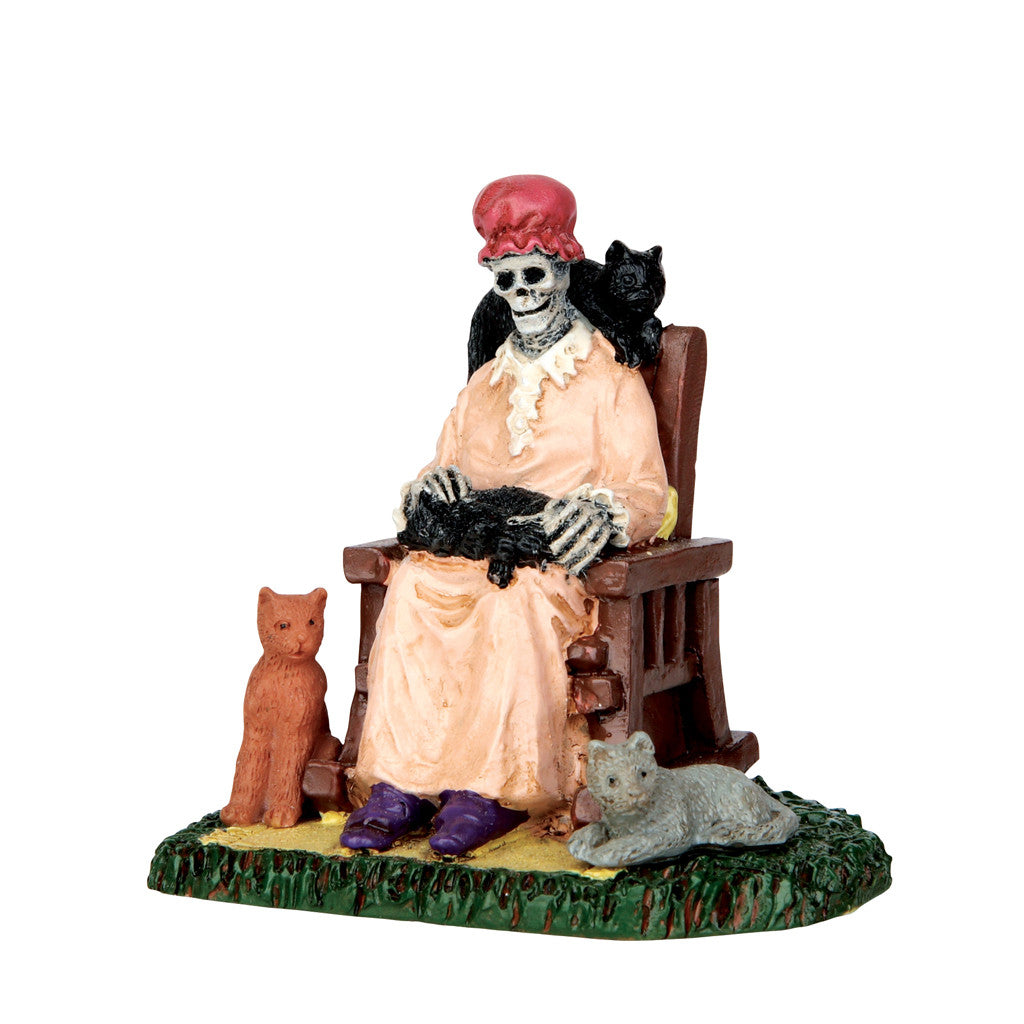 Lemax 62428 Former Cat Lady, Figurine- Gift Spice