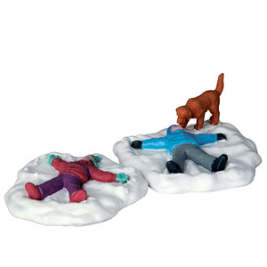 Lemax 62444 Snow Angels, Set of 2, Figurine- Gift Spice