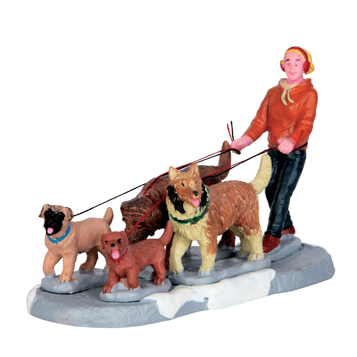 Lemax 62455 Pack of Pups, Figurine- Gift Spice