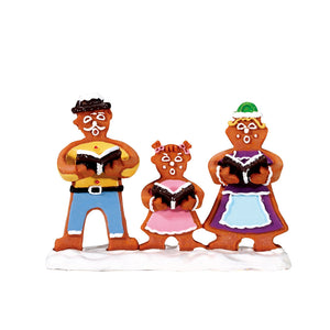 Lemax 62469 Gingerbread Carolers, Figurine- Gift Spice