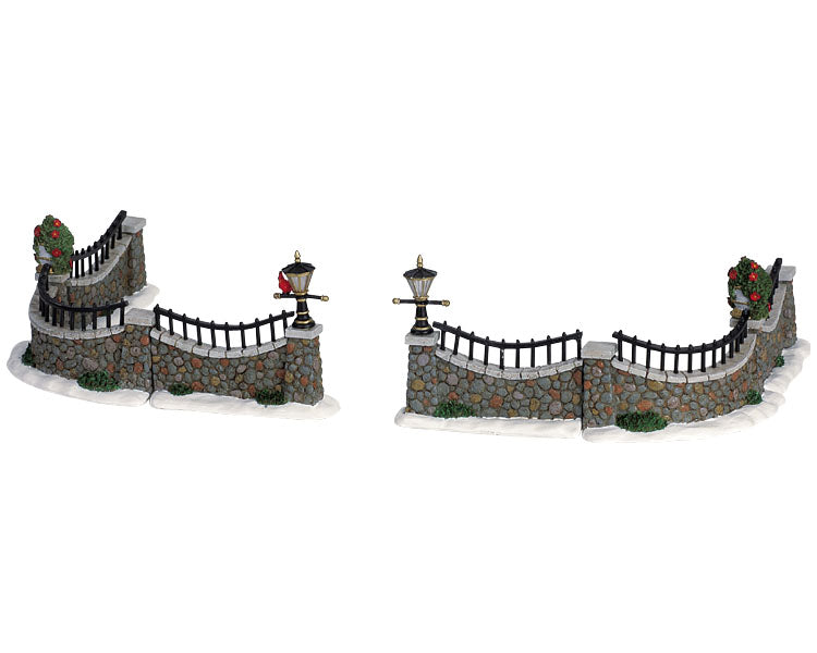Lemax 63576 Stone Wall, Set of 6, Table Piece- Gift Spice