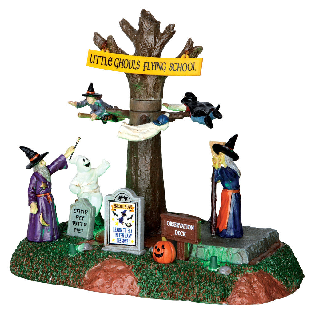 Lemax 64041 Little Ghouls Flying School, Animated Table Piece- Gift Spice