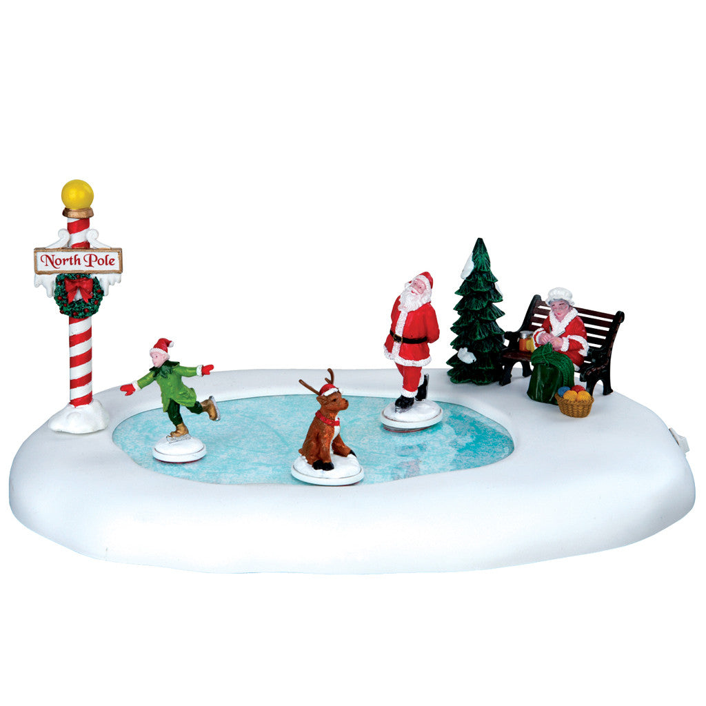 Lemax 64045 North Pole Ice Follies, Animated Table Piece- Gift Spice