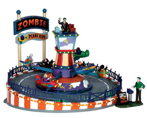 Lemax 64046 Zombie Plane Ride, Sights and Sound piece- Gift Spice