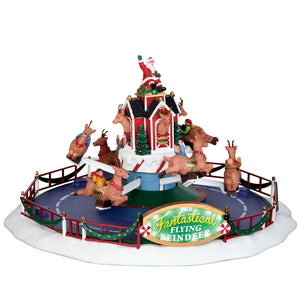 Lemax 64058 Reindeer on Holiday, Sights and Sound piece- Gift Spice