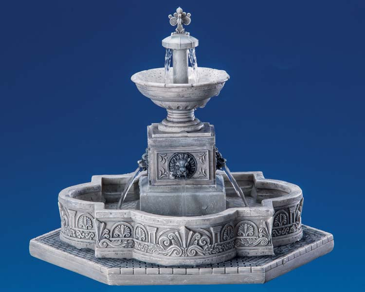 Lemax 64061 Modular Plaza-Fountain, Sights and Sound piece- Gift Spice
