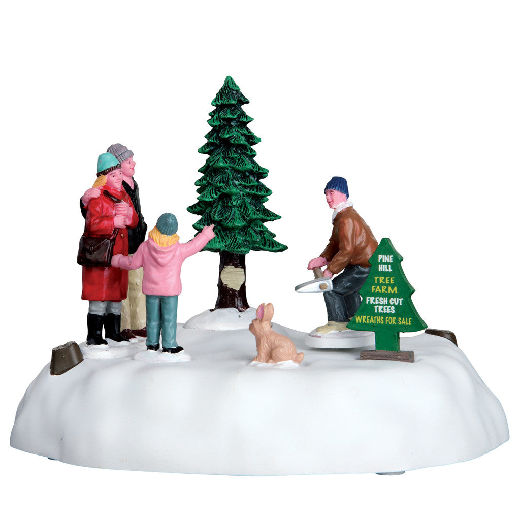 Lemax 64062 Pine Hill Tree Farm, Animated Table Piece- Gift Spice