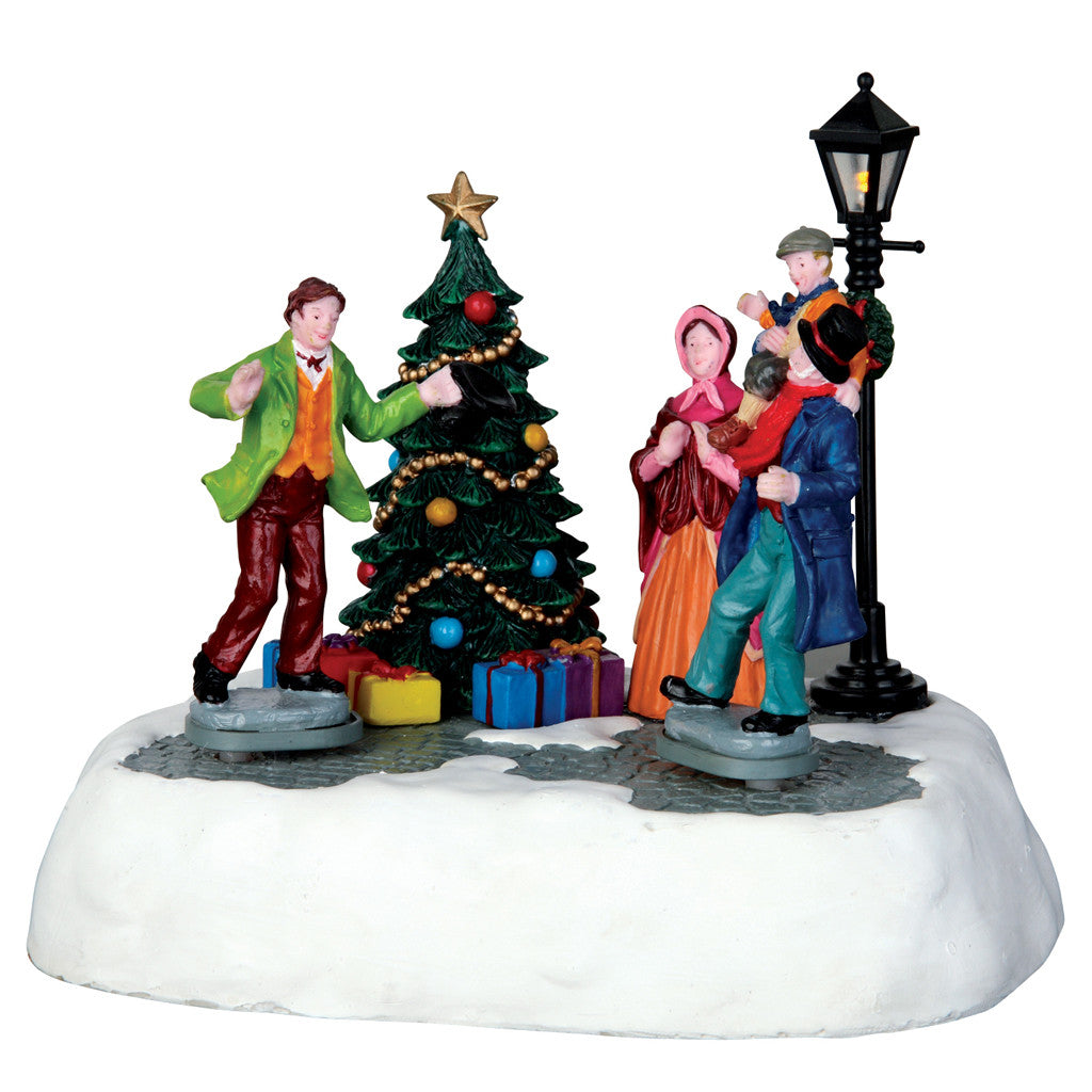 Lemax 64064 Happy Christmas, Mr. Scrooge!, Animated Table Piece- Gift Spice