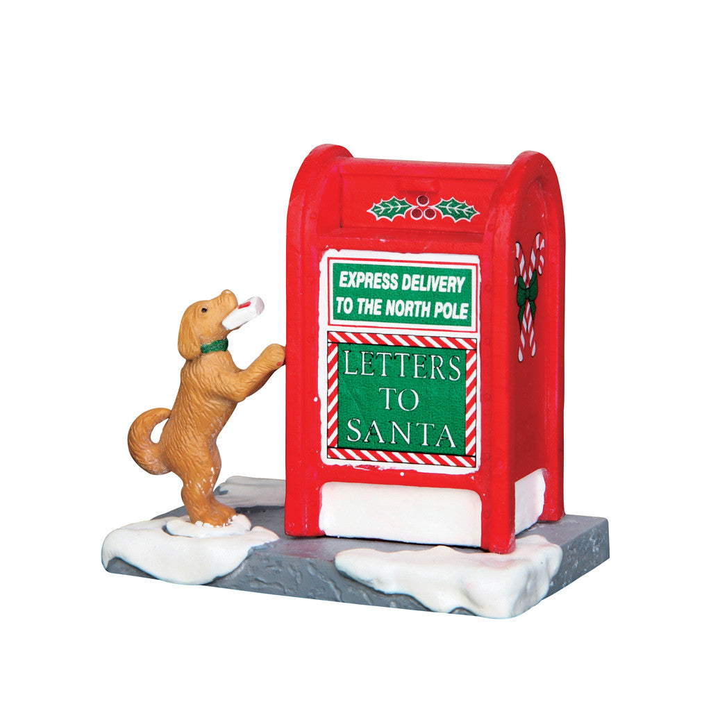 Lemax 64073 Santa's Mailbox, Accessory- Gift Spice