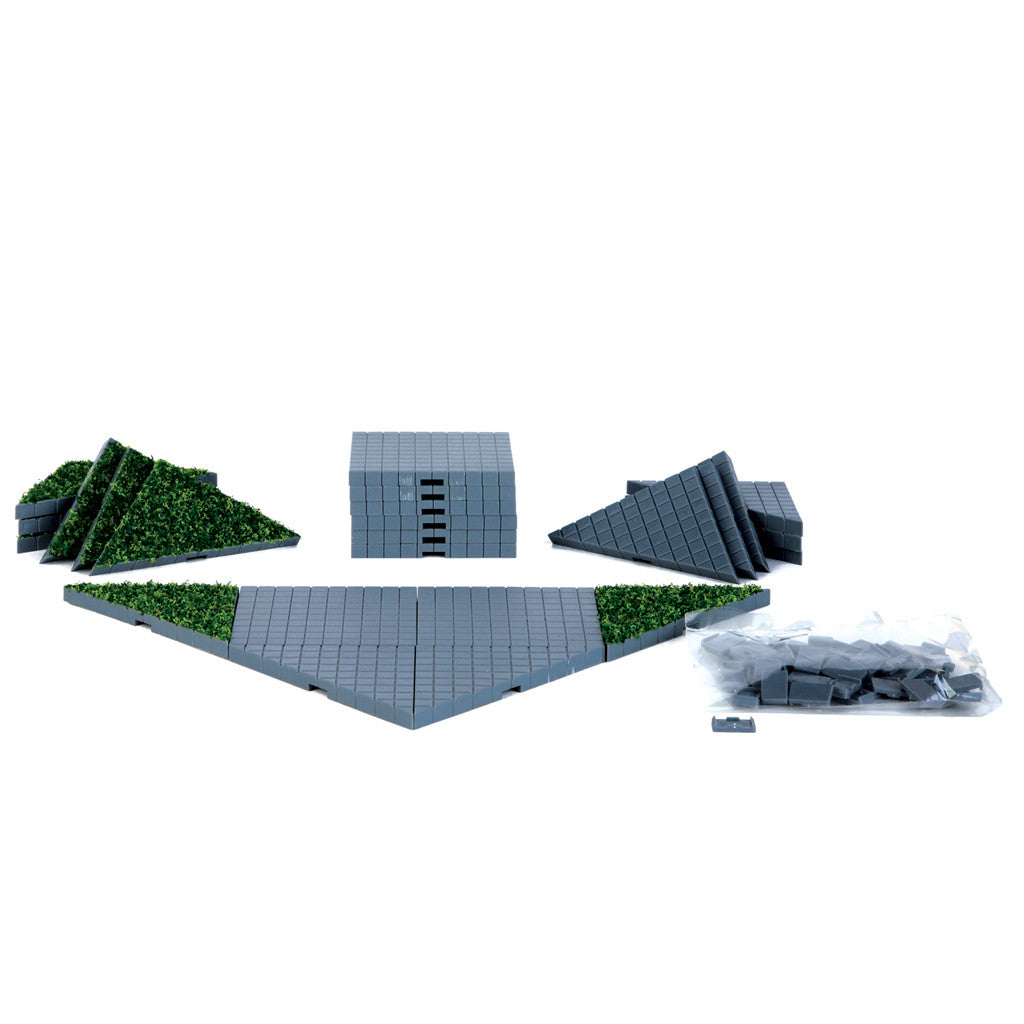64109 Plaza System (Grey, Triangle Grass), Lemax Collectibles- Gift Spice