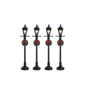 Lemax 64498 Gas Lantern Street Lamp, Set Of 4, Accessory- Gift Spice