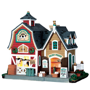 Lemax 65116 Green Valley Milk, Standard Lighted Building- Gift Spice