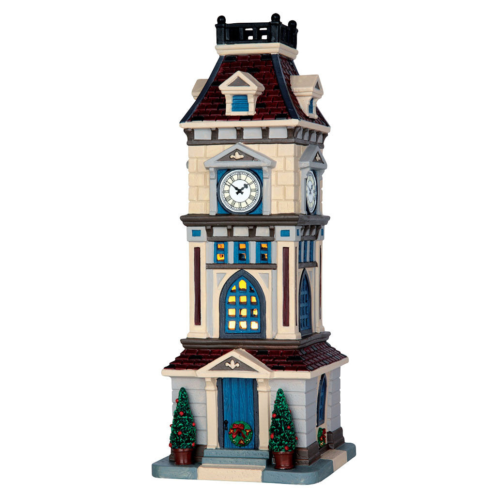 Lemax 65117 Clock Tower, Standard Lighted Building- Gift Spice