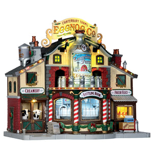 Lemax 65131 Canterbury Farms Eggnog Factory, Sights and Sound piece- Gift Spice